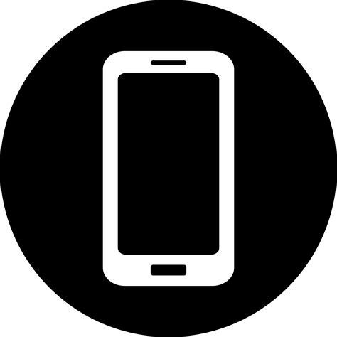 black mobile mobile icon white on black engosoft