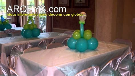 como decorar baby shower con globos 191 c 243 mo decorar con globos para el baby shower youtube