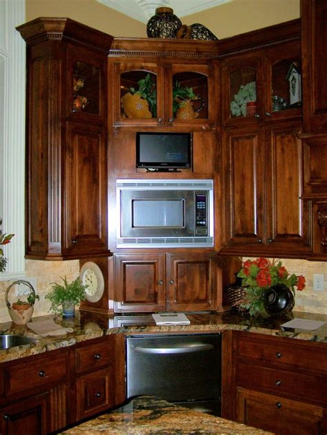 ideas  corner cabinet kitchen  pinterest