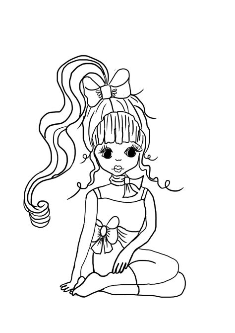 free girly pictures coloring pages