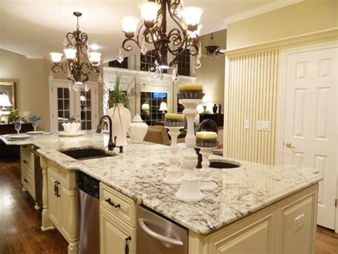 Kitchen Table Or Island crocodile rocks arctic creme granite kitchen island