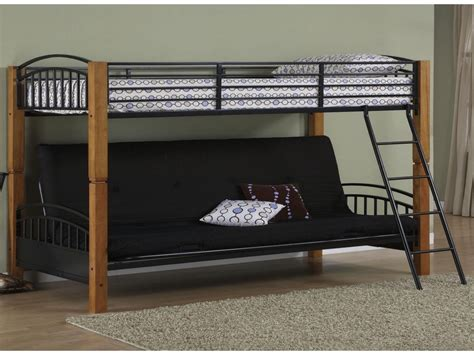size futon bed size bunk bed with futon on bottom
