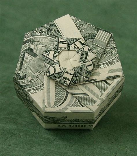Origami Dollar Box - beautiful origami made of dollars by won park noupe