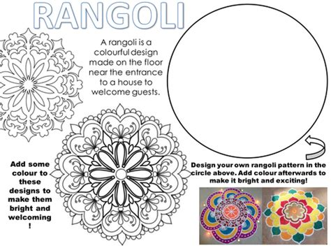 design cover lesson rangoli worksheet by rnd86 teaching resources tes