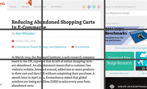 magazine layout rule of thirds applying the rule of thirds in web design
