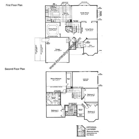 cardiff residence floor plan cardiff model in the neuhaven subdivision in antioch