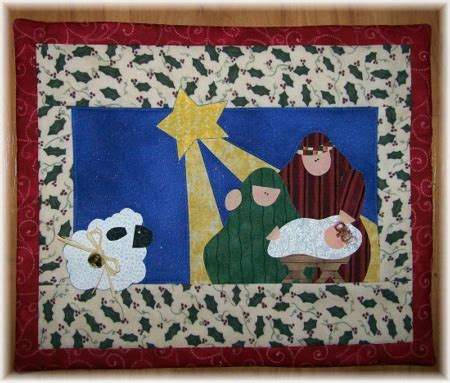 Nativity Quilt Pattern by Nativity Quilt By Patchwork And Paint