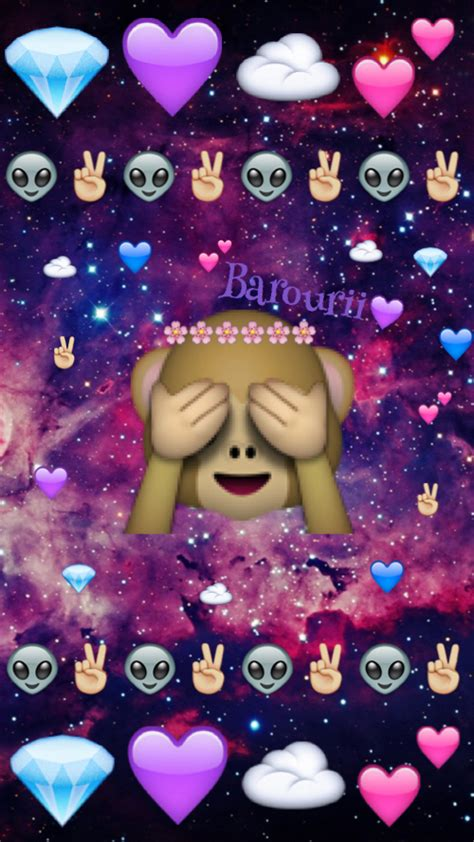 wallpaper galaxy emoji my hand made design image 3216952 by marine21 on favim com