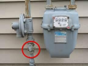 Gas meter shut off