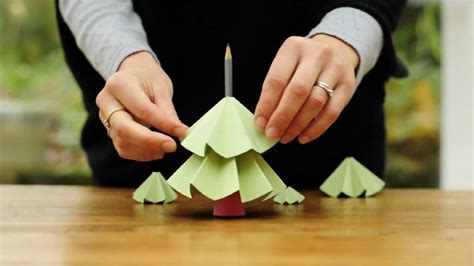 how to make a christmas tree from paper youtube