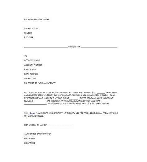 sle proof of funds letter template 28 images proof of