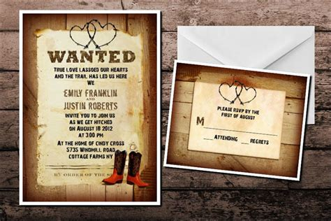 10 Funny And Inspiring Informal Wedding Invitation Wordings Cowboy Wedding Invitations Templates