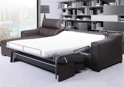 sectional sofa sleeper with storage leclaire modern italian leather sectional sleeper with