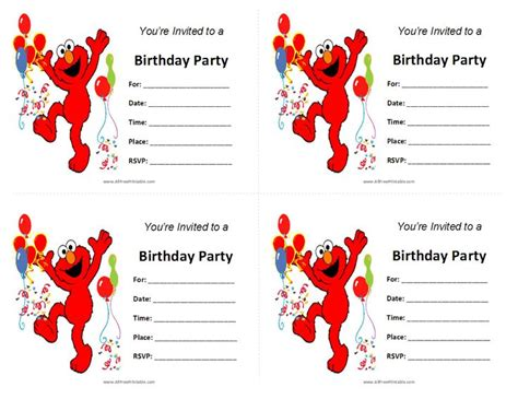 elmo invitation template free 507 best sesame printables images on