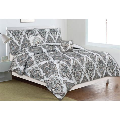 Home Trends Bedding Sets Home Dynamix Classic Trends Taupe Teal 5 Comforter Set F Q Ctmg 802 The Home