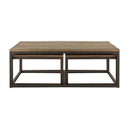 Palmer Nesting Coffee Table Set in Bali Brown   Clean design, Solid oak and Modern