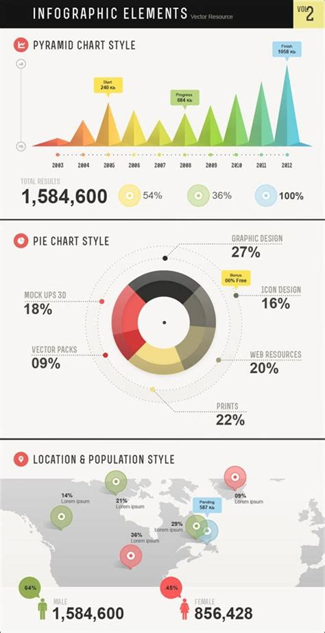 12 free vector infographic design elements designfreebies