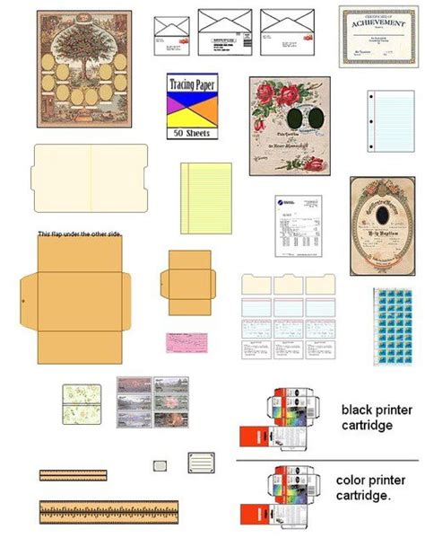 printable barbie house suvasi more diy doll house furniture and accessories from