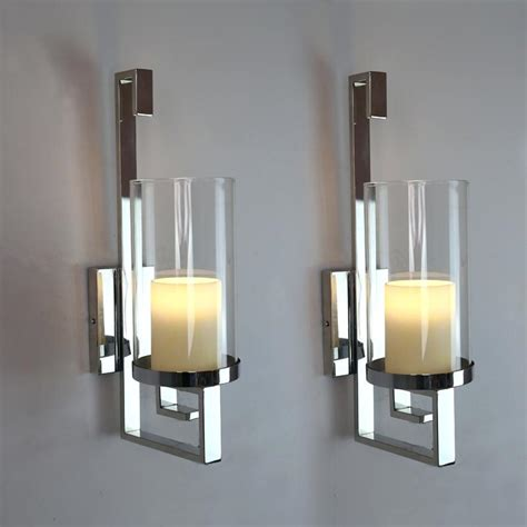 Silver Wall Sconce Candle Holder Silver Wall Sconce Candle Holder Black Candle Holders Oregonuforeview
