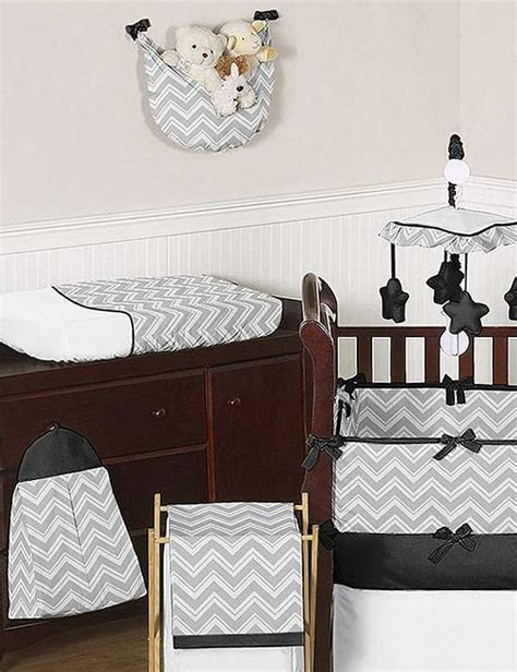 Chevron Print Crib Bedding Zig Zag Black Gray Chevron Print Crib Bedding Set Blanket Warehouse