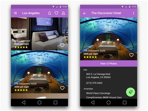 Apps Email Log Search Hotel Search App For Android With Material Design