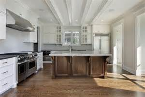 White Kitchen Wood Island 31 Quot New Quot Custom White Kitchens With Wood Islands