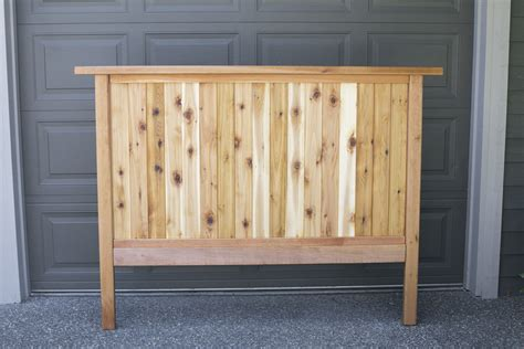 cedar headboard how to make a diy cedar headboard
