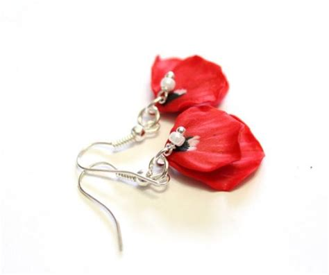 Poppy Drops Free Earrings Lets petal poppy poppy drop earrings flower drop