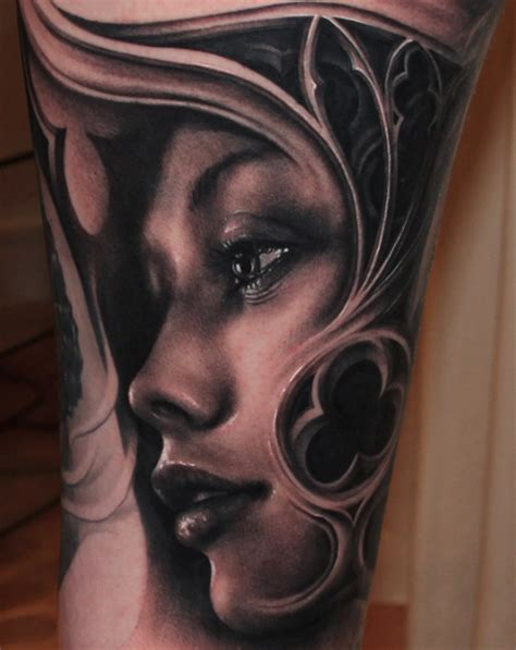 woman s face tattoo s by riccardo cassese tattoonow