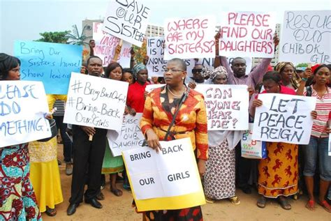 nigerian schoolgirls kidnapped by boko haram protests but protestors plea with nigerian government bring back our