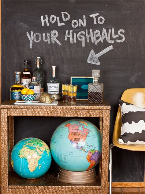 chalkboard paint ideas for bar how to upcycle a side table into a faux bar cart hgtv s