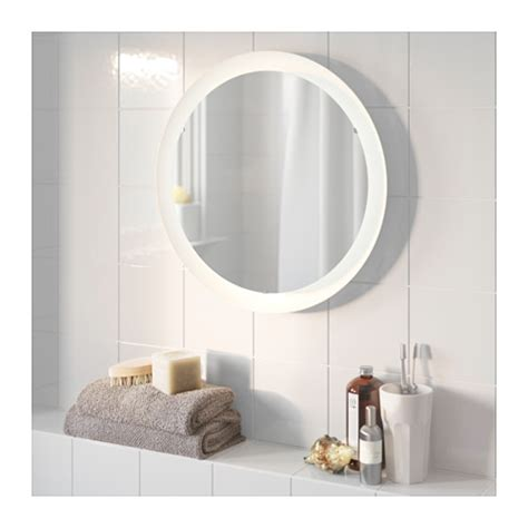 illuminated bathroom mirrors ikea storjorm mirror with integrated lighting white 47 cm ikea