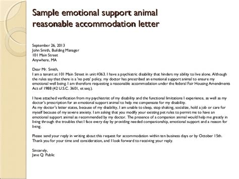 Emotional Support Letter Template emotional support animal letter sle airline templates