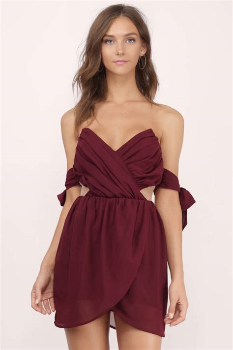 burgundy color dress burgundy dresses maroon bridesmaid wine colored