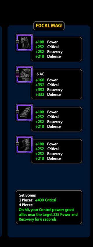 Gear Bonus Cap neverwinter wizard epic gear focal magi cap