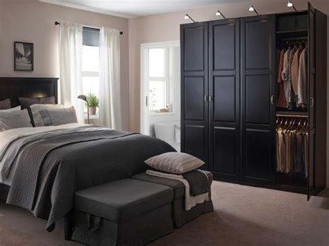 schlafzimmer ideen ikea schwarzer kleiderschrank schlafzimmer einrichten ideen