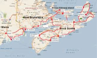 canada maritimes map travels with bill and nancy maine and the maritime
