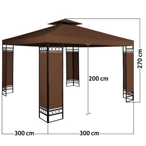 gartenpavillon 3x3 stalowy mocny pawilon 3x3 brazowy namiot ogrodowy brązowy