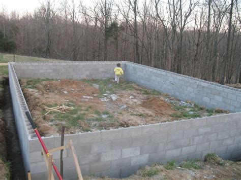 How To Build A Cinder Block Foundation For A Shed by Log Cabin Foundation Block Work Done And Logs Delivered