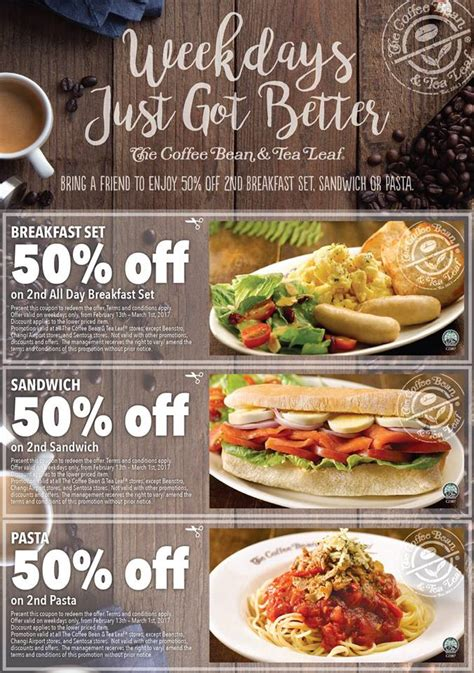 Menu Coffee Bean Indonesia coffee bean dining discount coupons 50 second