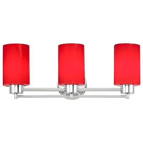 red bathroom light modern bathroom light with red glass in chrome finish ebay