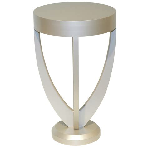 white and silver side table lalique white lacquered side table salmond furniture