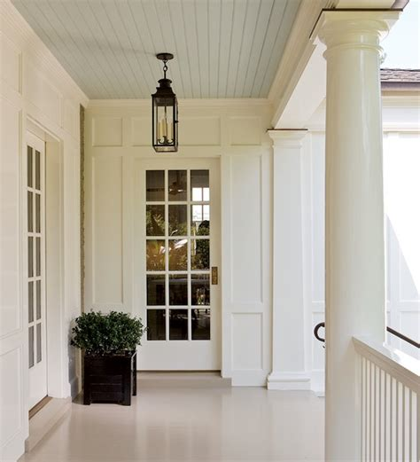 blue beadboard ceiling traditional porch house