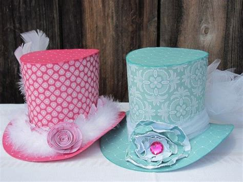 making themed hats paper hats cute for madd hatter themed tea party make