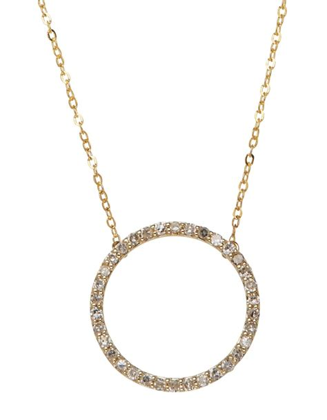 Circle Necklace yellow gold circle necklace jewelry ideas