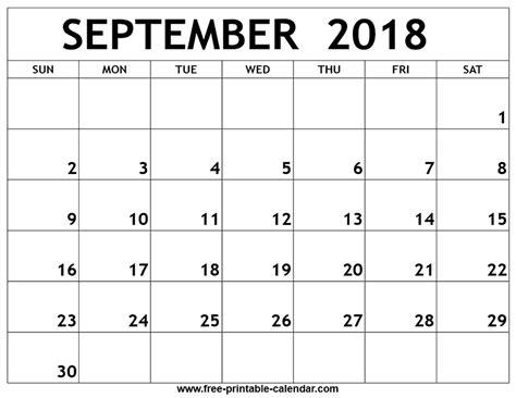 printable calendar september 2018 september 2018 printable calendar