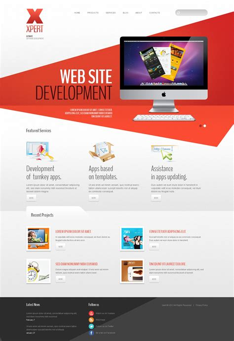 templates for web design software company joomla template 42980