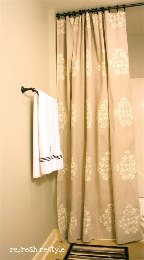 shower curtain diy how to change the d 233 cor of your bathroom with a simple diy