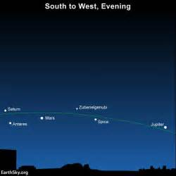 2016 you can easily find 3 bright planets jupiter mars and saturn
