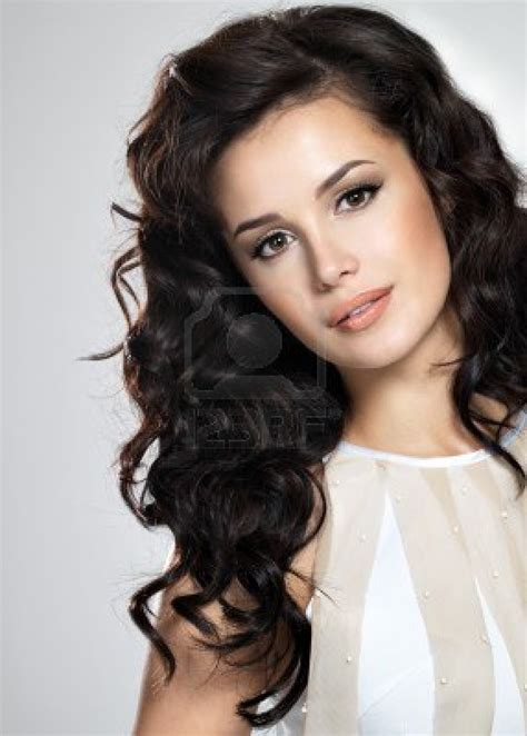 brunette curly hairstyles long curly brown hair jpg